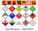 chemical safety symbols over... | Shutterstock .eps vector #4425313