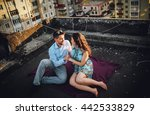 couple in love sitting on the... | Shutterstock . vector #442533829