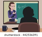 distance learning illustration | Shutterstock .eps vector #442536391