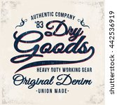Denim Dry Goods Print For T...