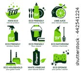 flat icon set for green eco... | Shutterstock .eps vector #442541224