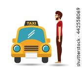 taxi service design  | Shutterstock .eps vector #442558069