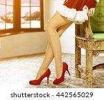 woman legs  | Shutterstock . vector #442565029