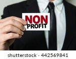 business man holding a card... | Shutterstock . vector #442569841