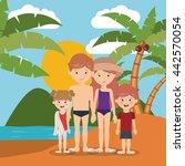 summer vacations in family... | Shutterstock .eps vector #442570054