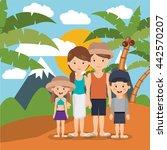 summer vacations in family... | Shutterstock .eps vector #442570207