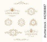 elegant floral monograms and... | Shutterstock . vector #442580887