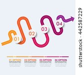 road way location infographic... | Shutterstock .eps vector #442587229
