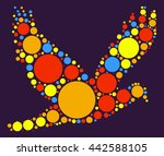 pigeon shape vector design by...