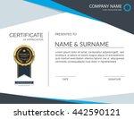 vector certificate template. | Shutterstock .eps vector #442590121