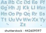 english alphabet. abc. berry... | Shutterstock . vector #442609597