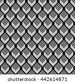 black and white jacquard.... | Shutterstock .eps vector #442614871