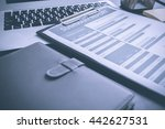 showing business and financial... | Shutterstock . vector #442627531