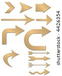 set of gold arrows | Shutterstock . vector #4426354
