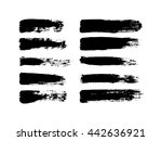 vector set of grunge brush... | Shutterstock .eps vector #442636921