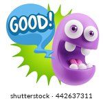 3d illustration laughing... | Shutterstock . vector #442637311