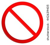 not allowed red circular sign... | Shutterstock . vector #442639405