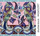 seamless paisley vector pattern ...   Shutterstock .eps vector #442651597