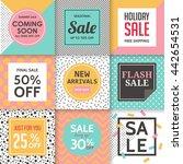 modern sale banners template... | Shutterstock .eps vector #442654531