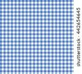 seamless gingham pattern in blue | Shutterstock .eps vector #442654645