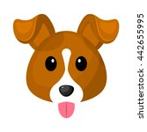 cute dog colorful icon. vector... | Shutterstock .eps vector #442655995