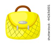 woman handbag colorful icon.... | Shutterstock .eps vector #442656001