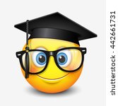 cute smiling emoticon wearing... | Shutterstock .eps vector #442661731