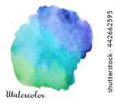 big watercolor blot isolated on ... | Shutterstock . vector #442662595