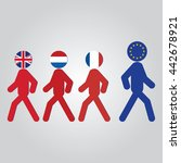 human with icon of uk  the... | Shutterstock .eps vector #442678921