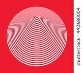 optical illusion cone | Shutterstock .eps vector #442680004