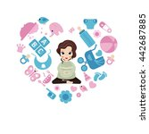 pregnant woman concept.... | Shutterstock .eps vector #442687885