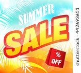 summer sale. | Shutterstock .eps vector #442693651