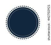 round badge icon | Shutterstock .eps vector #442702921
