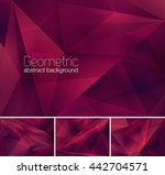 geometric abstract background.... | Shutterstock .eps vector #442704571