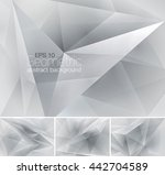 geometric abstract background.... | Shutterstock .eps vector #442704589