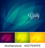 curvy abstract background.... | Shutterstock .eps vector #442704595
