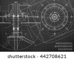 mechanical engineering drawings.... | Shutterstock .eps vector #442708621