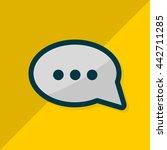 speech bubble. flat design....