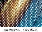 abstract metal grid color gold... | Shutterstock . vector #442715731