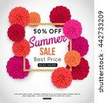 summer sale banner template... | Shutterstock .eps vector #442733209