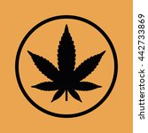 marijuana leaf vector icon | Shutterstock .eps vector #442733869