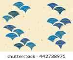 the pattern of japan's wave | Shutterstock .eps vector #442738975