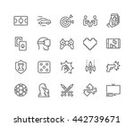 simple set of games related... | Shutterstock .eps vector #442739671