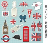 collection of united kingdom... | Shutterstock .eps vector #44274748