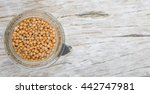 yellow mustard seed in mason... | Shutterstock . vector #442747981