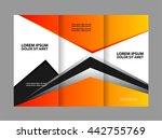corporate tri fold brochure... | Shutterstock .eps vector #442755769