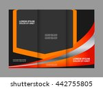 brochure mock up design... | Shutterstock .eps vector #442755805