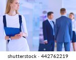 portrait of young businesswoman ... | Shutterstock . vector #442762219