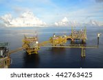 offshore oil   gas central... | Shutterstock . vector #442763425