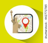 gps service design  | Shutterstock .eps vector #442772785